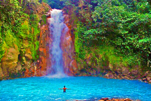 costa rica waterfall swimming