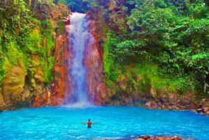 costa rica waterfall swimming
